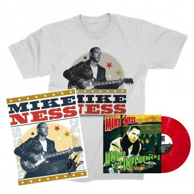mike-ness - Under The Influence LP (Red Slushie) + Woodprint T-Shirt + Screen Print (Signed) Bundle