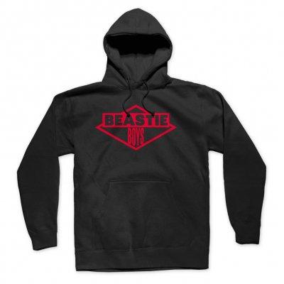 beastie-boys - Red Logo Hoodie (Black)