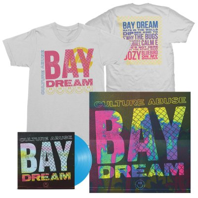 Culture Abuse - Bay Dream LP (Opaque Blue) + Bay Dream Tee (White) Bundle