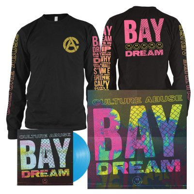 Culture Abuse - Bay Dream LP (Opaque Blue) + Smile Long Sleeve (Black) Bundle