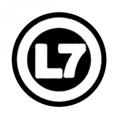l7 - Logo Patch (White/Black)