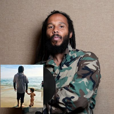 ziggy-marley - Rebellion Rises LP + Custom Embroidered Tuff Gong Worldwide Army Jacket (Camo) Bundle