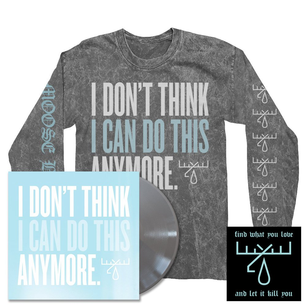 IMAGE | I Don't Think I Can Do This Anymore LP (Silver) + IDTICDTA Longsleeve Tee