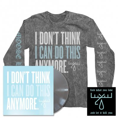 I Don't Think I Can Do This Anymore LP (Silver) + IDTICDTA Longsleeve Tee