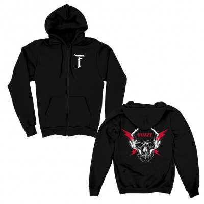 Fozzy Skull Zip Up Hoodie (Black)