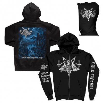 Where Shadows Forever Reign Zip Up (Black)