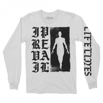 i-prevail - Letterpress Long Sleeve Tee (White)