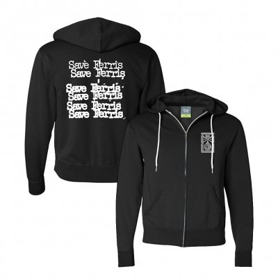 save-ferris - Cheap Logo Zip-Up Hoodie (Black)