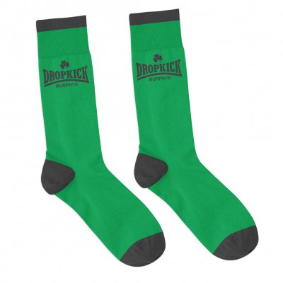 dropkick-murphys - Fighter Socks (Green/Black)