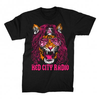 red-city-radio - Rocker Tee (Black)