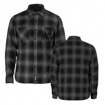 i-prevail - Embroidered VA Logo Flannel (Black/Grey)