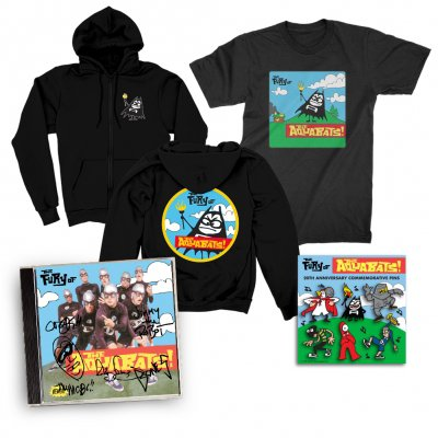 the-aquabats - The Fury Of The Aquabats CD (Signed) + Fury Bat '97 Tee  + Fury Bat Zip-Up Hoodie + Enamel Pin Set Bundle