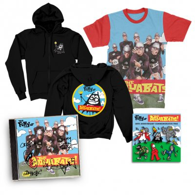 the-aquabats - The Fury Of The Aquabats CD (Signed) + Fury Band Photo Tee + Fury Bat Zip-Up Hoodie + Enamel Pin Set Bundle