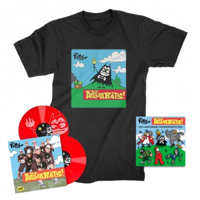 the-aquabats - The Fury Of The Aquabats Remastered 2xLP (Red) + Fury Bat '97 Tee + Enamel Pin Set Bundle