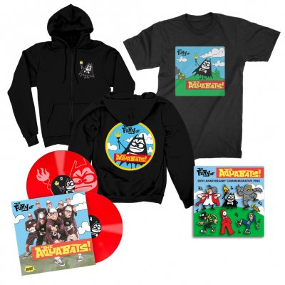 the-aquabats - The Fury Of The Aquabats Remastered 2xLP (Red) + Fury Bat '97 Tee  + Fury Bat Zip-Up Hoodie + Enamel Pin Set Bundle