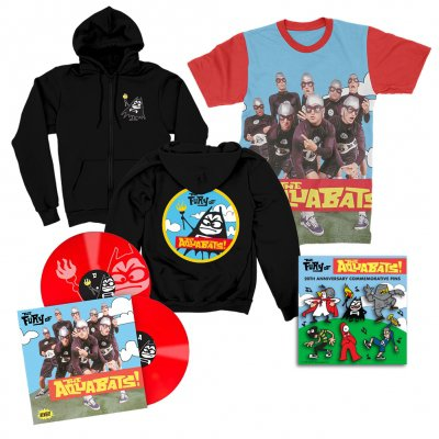 the-aquabats - The Fury Of The Aquabats Remastered 2xLP (Red) + Fury Band Photo Tee + Fury Bat Zip-Up Hoodie + Enamel Pin Set Bundle
