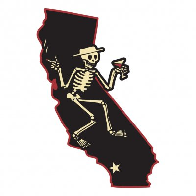 "social-distortion - Die Cut California Skelly Sticker (6"")"
