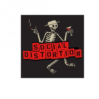 social-distortion - Skelly w/Block Logo Sticker