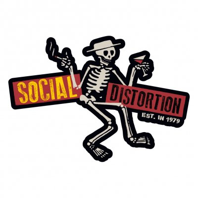 social-distortion - Die Cut Skelly w/Logo Sticker