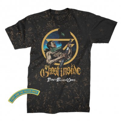 The Ghost Inside - The Fury and the Fallen Ones Album Tee (Bleach Splatter)