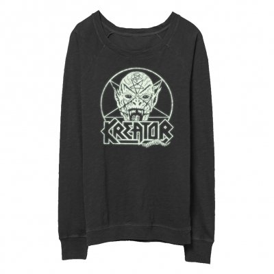 Kreator - Pentagram Demon - Women's Crew Neck (Glow In The D