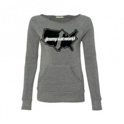 Across America Womens Sweatshirt (Gray)