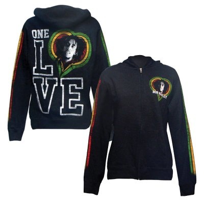 Bob Marley - One Love Smile Women's Zip (Black)