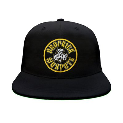 dropkick-murphys - Black & Gold Stitches Baseball Cap (Black)