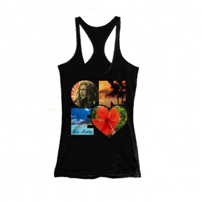 Bob Marley - One Heart Racerback Tank (Black)