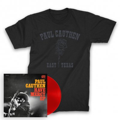 "paul-cauthen - Have Mercy 12"" EP (Trans Red) + East TX Rose T-Shirt (Black)"