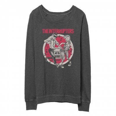 the-interrupters - Dancing Couple Womens Slouch Crew Neck (Heather Bl