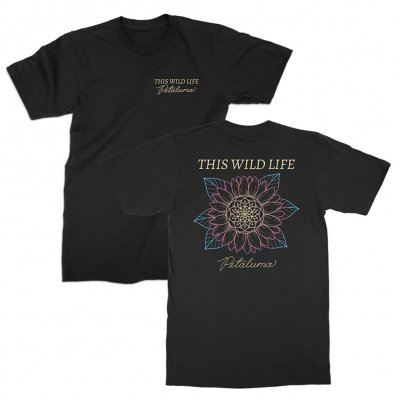 this-wild-life - Petaluma Flower Tee (Black)