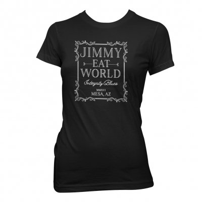 jimmy-eat-world - Ornate Womens T-Shirt (Black)