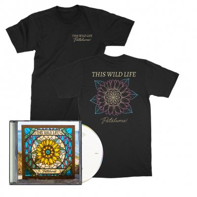 this-wild-life - Petaluma Flower Tee (Black) + Petaluma CD  Bundle