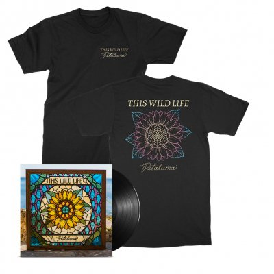 this-wild-life - Petaluma Flower Tee (Black) + Petaluma LP (Black) Bundle