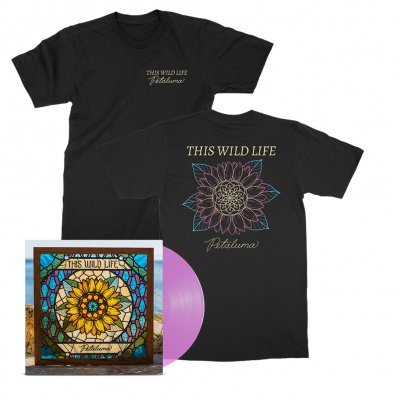 this-wild-life - Petaluma Flower Tee (Black) + Petaluma LP (Pink) Bundle