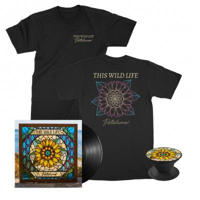 this-wild-life - Petaluma Flower Tee (Black) + Petaluma LP (Black) + Petaluma Pop Socket Bundle