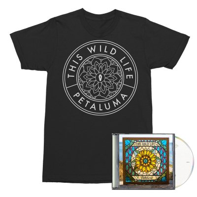 This Wild Life - Flower Seal Tee (Black) + Petaluma CD Bundle
