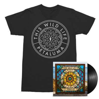 This Wild Life - Flower Seal Tee (Black) + Petaluma LP (Black) Bundle