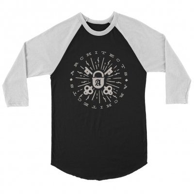 architects - Lock & Key Raglan (White/Black)