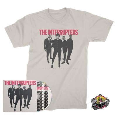 the-interrupters - Fight The Good Fight CD + Cover T-Shirt (Natural) + Road To Ruin Enamel Pin Bundle