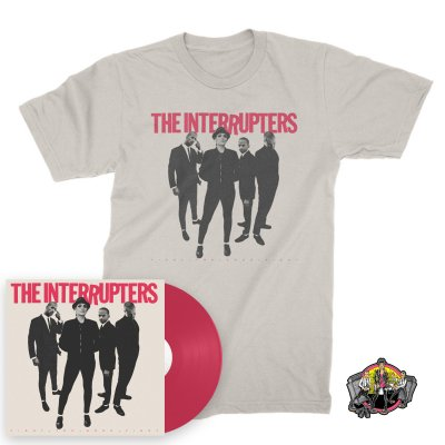 IMAGE | Fight The Good Fight LP (Pink) + Cover T-Shirt (Natural) + Road To Ruin Enamel Pin Bundle