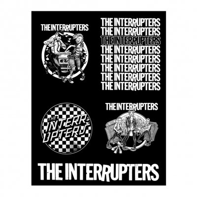 the-interrupters - 4 Design Sticker Sheet (Black & White)