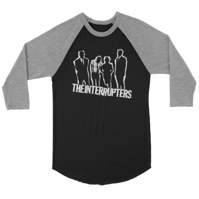 the-interrupters - Silhouette Raglan (Grey/Black)