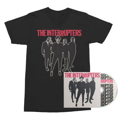 The Interrupters - Fight The Good Fight CD + Cover Tee (Black) Bundle