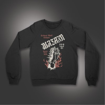 watain - Trident Wolf Eclipse Crewneck (Black)