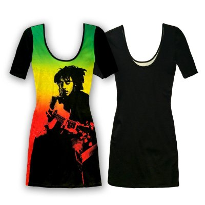 Bob Marley - Ombre Short Sleeve Dress (Black)