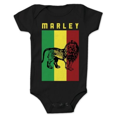 Bob Marley - Flag Lion Onesie (Black)