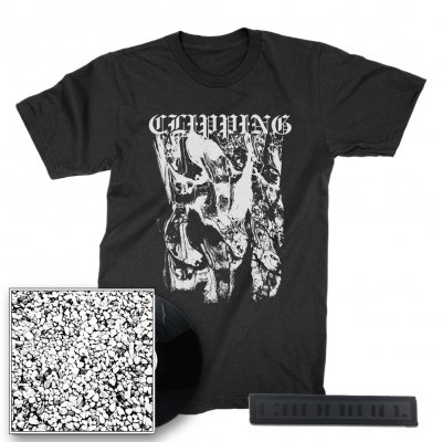 clipping - Face LP + Texture T-Shirt (Black) + Logo Patch