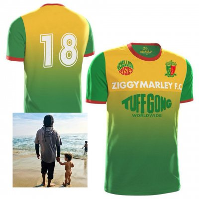 ziggy-marley - Rebellion Rises CD + 2018 Tuff Gong Jersey Bundle